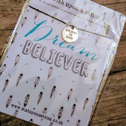Wish String Bracelet- Believe in Love, Dream Believer